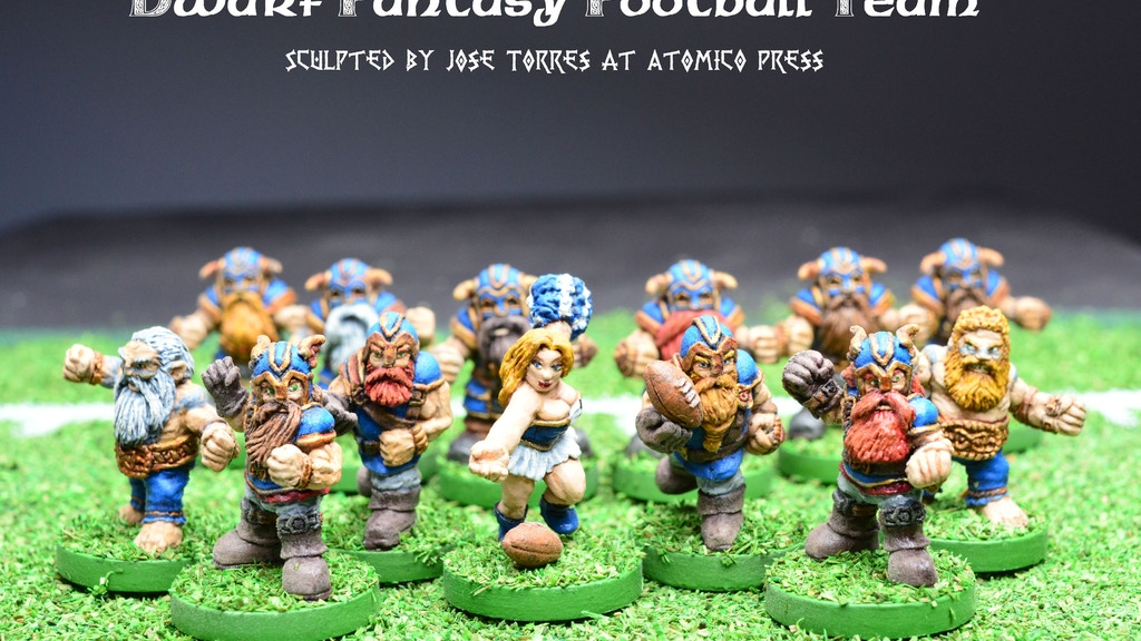 Dwarf Fantasy Football Team miniatures project video thumbnail
