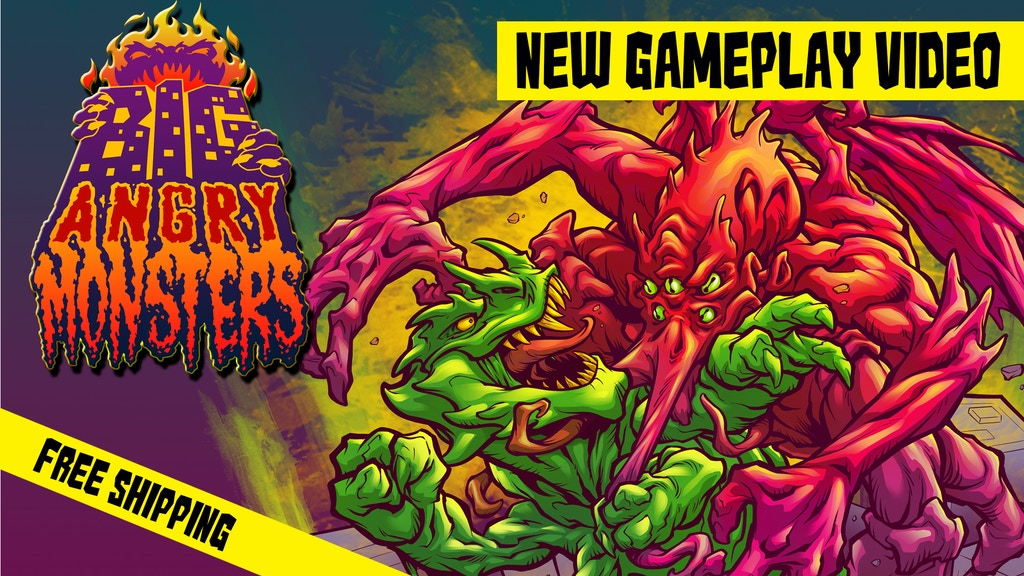 Project image for Big Angry Monsters! A game of Kaiju Battles & Destruction