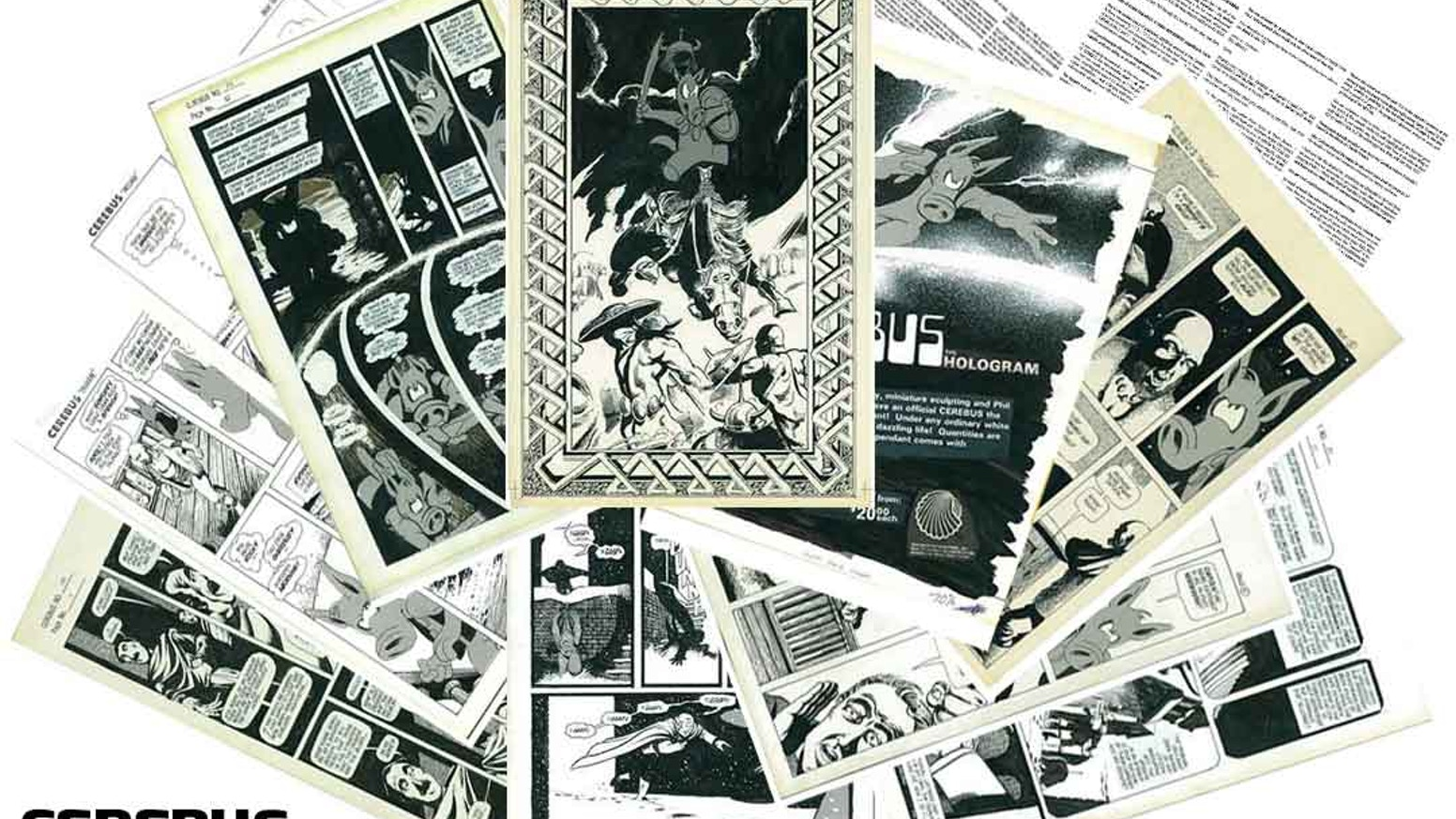 A FOLIO OF THE TEN EARLIEST PAGES IN THE CEREBUS ARCHIVE WITH COMMENTARY BY DAVE SIM