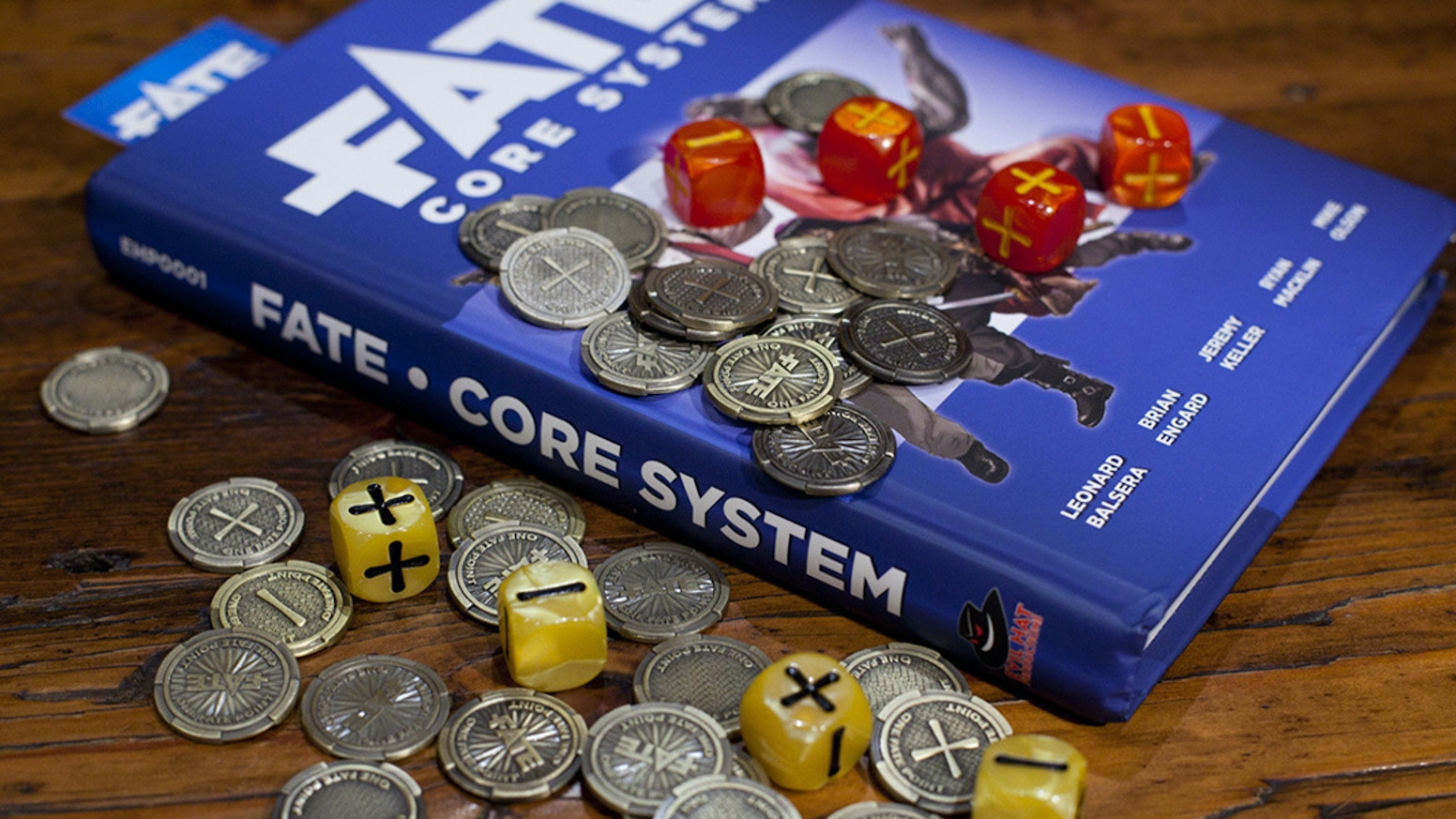 Beautiful detailed metal tokens to keep track of Fate Points during your Fate™ games.