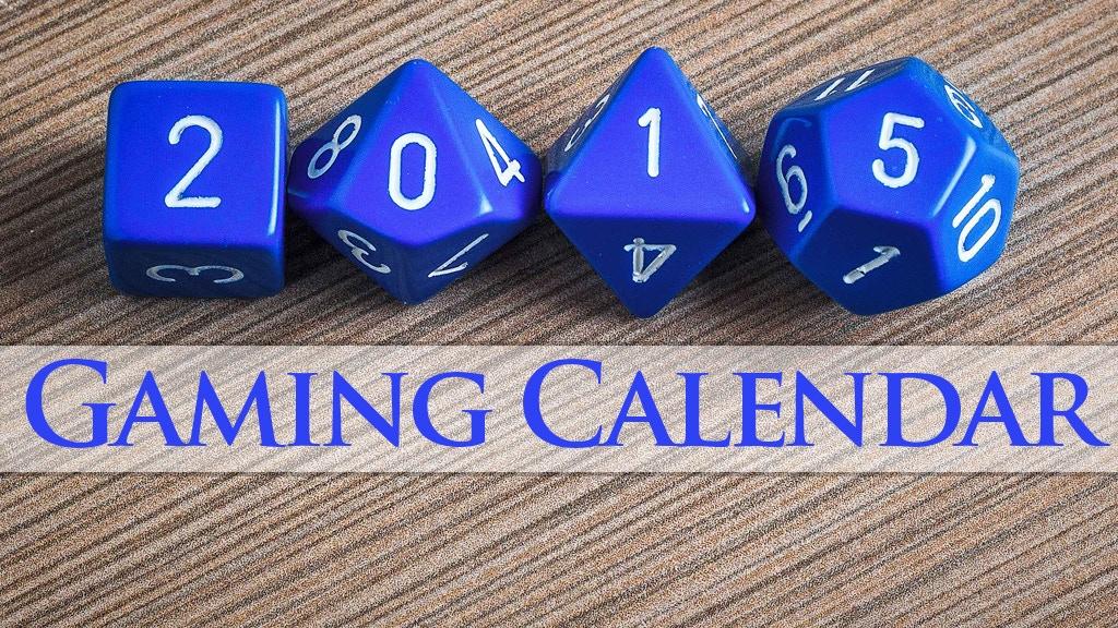 2015 Gaming Calendar project video thumbnail
