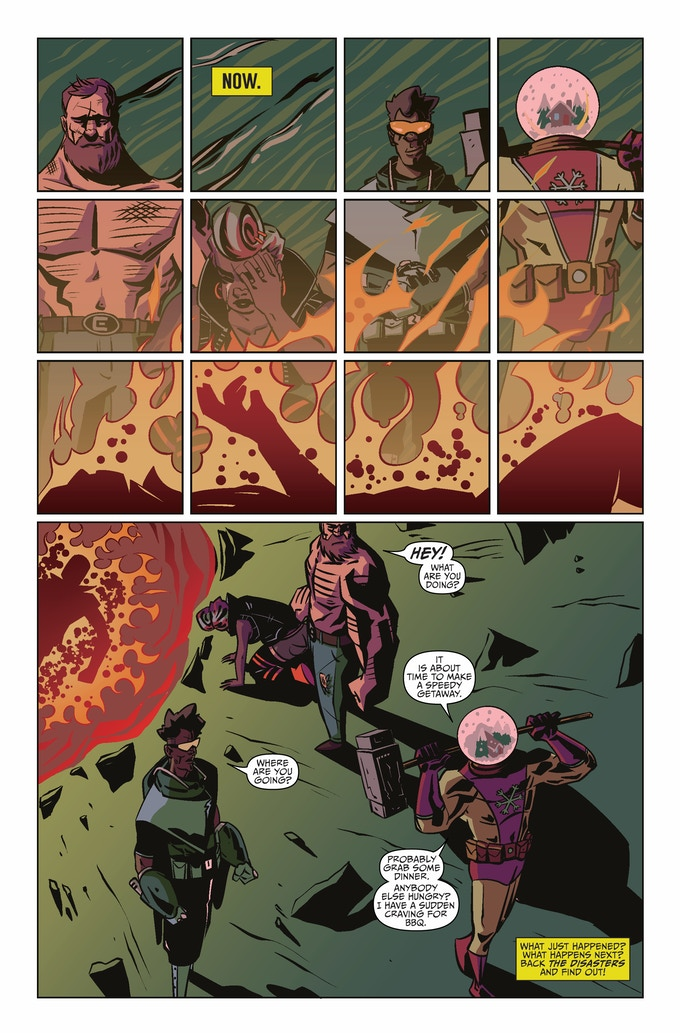 Bookend Page art and color by Hoyt Silva