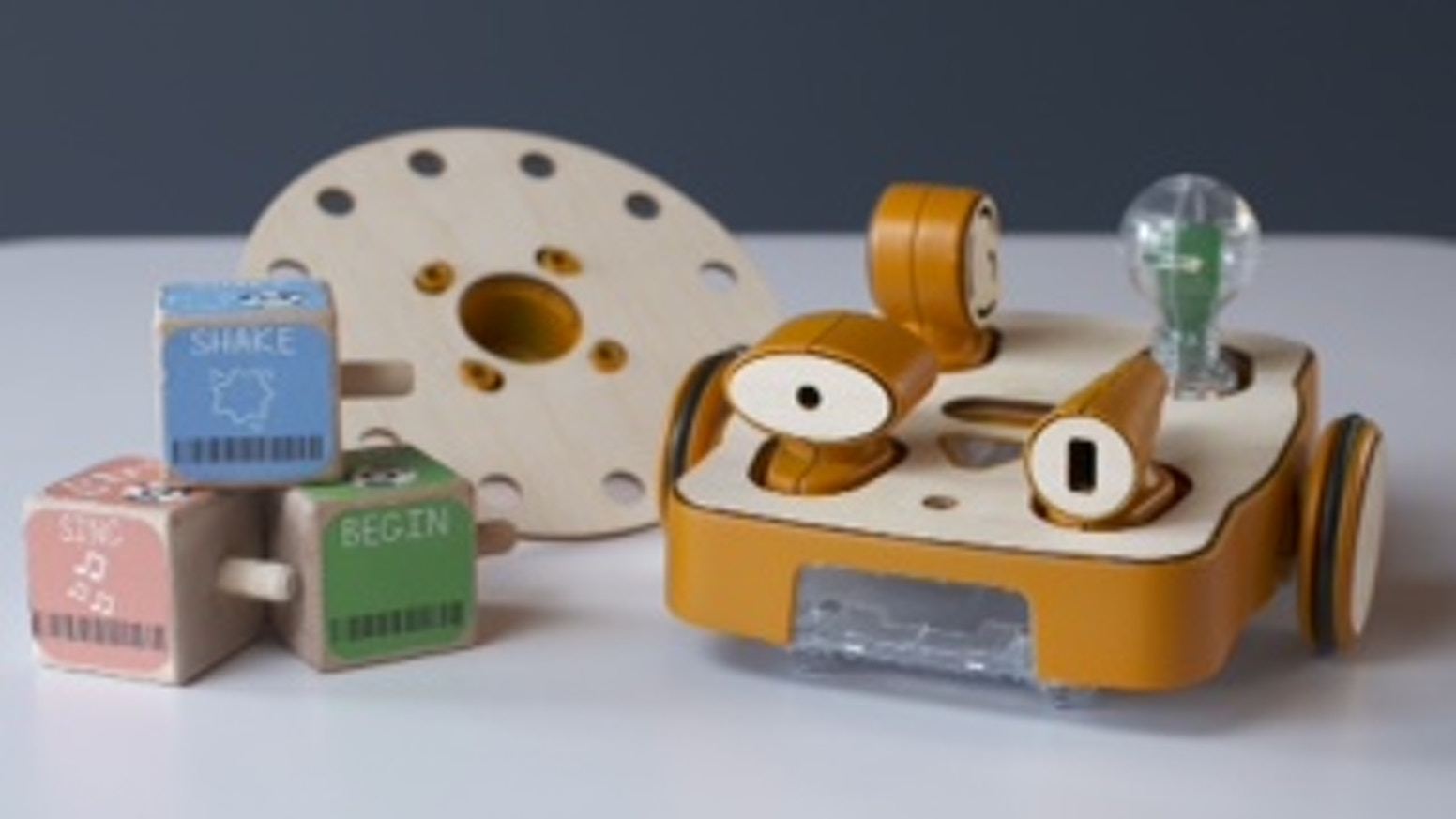 KIBO: Young kids programming robots with wooden blocks by