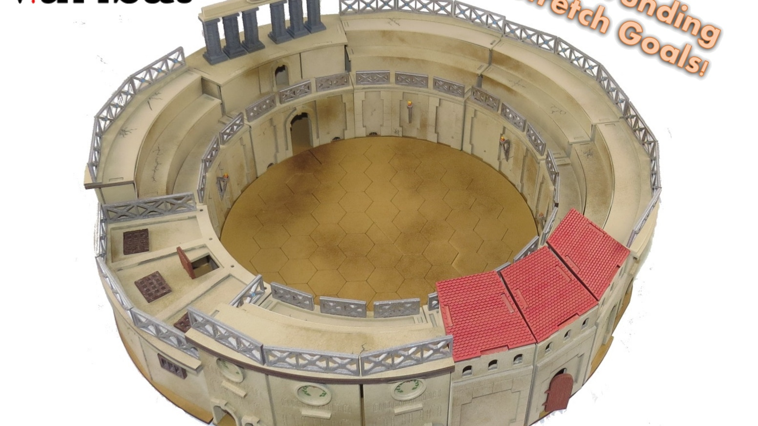 61059424a7d61 Help us make a modular 28mm scale gladiator arena and a range of  accessories which can be used for a variety of miniatures games.