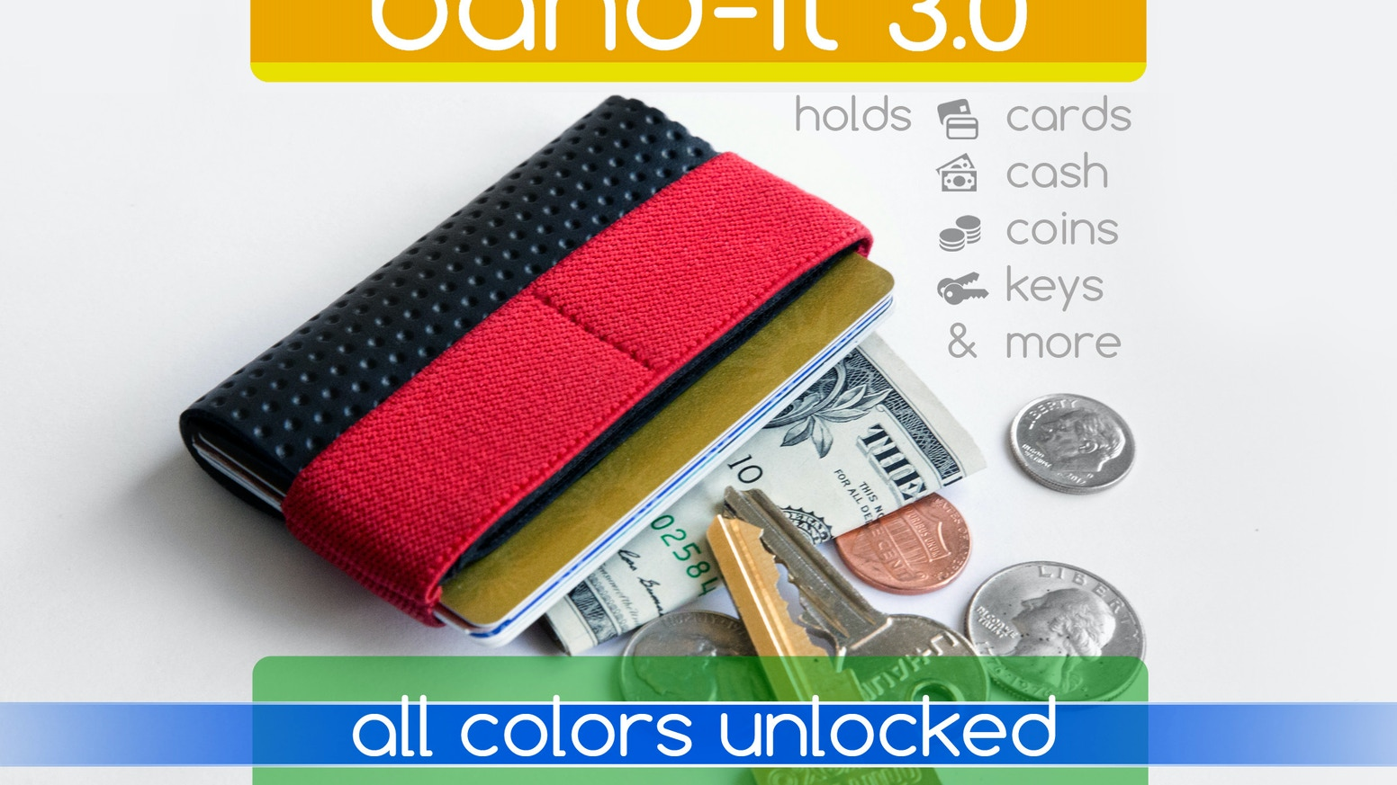 Seems too small for anything but holds everything you need.  Featuring a new stealth pocket for coins, keys and more!