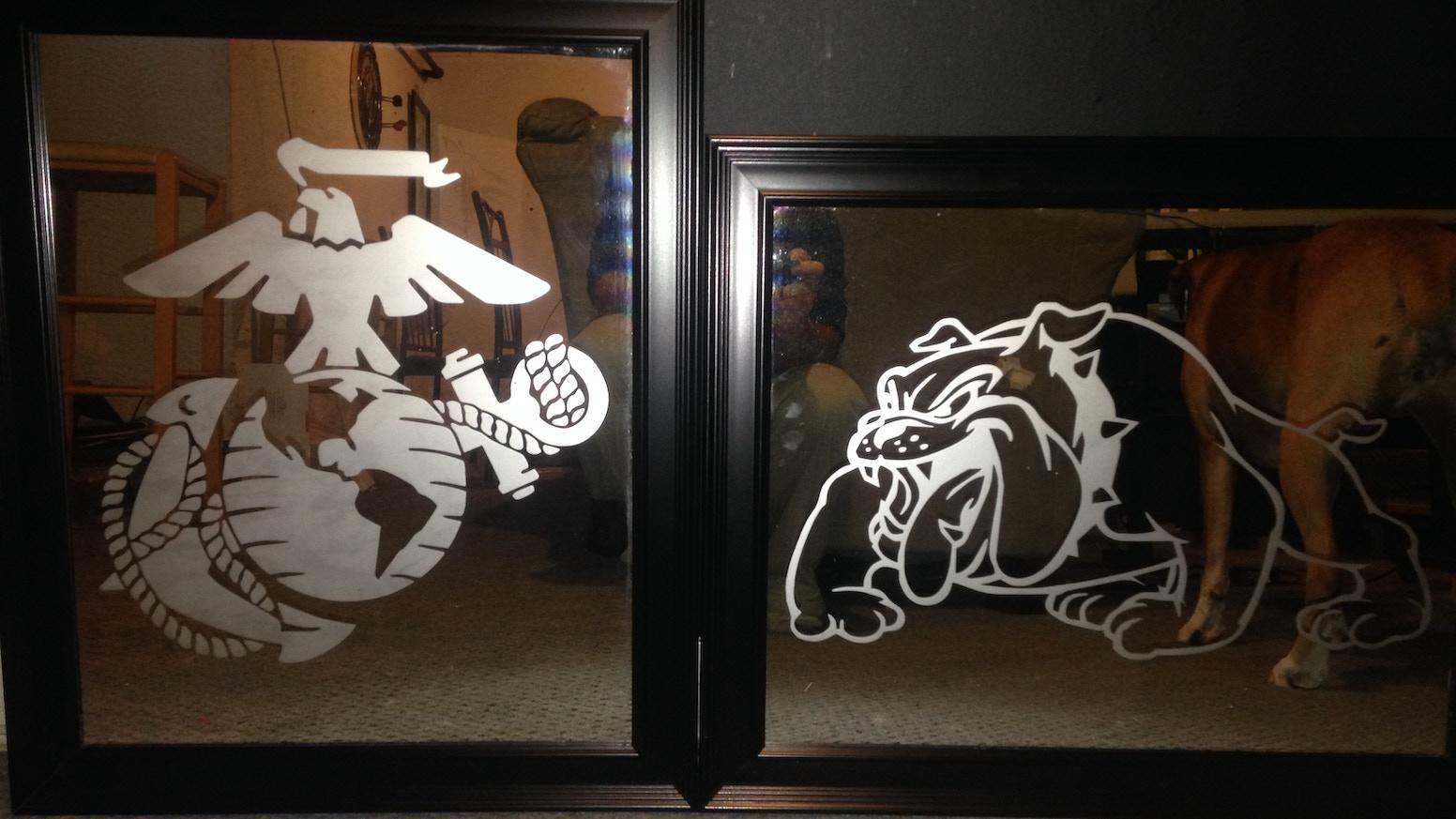 usmc etched mirrors by brandon kickstarter