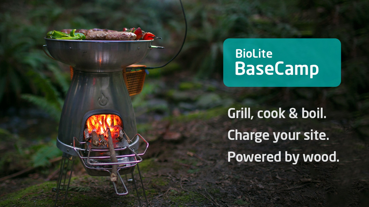 We heard you, it's here: advanced off-grid cooking and charging for groups, powered by wood. Can your stove do that?