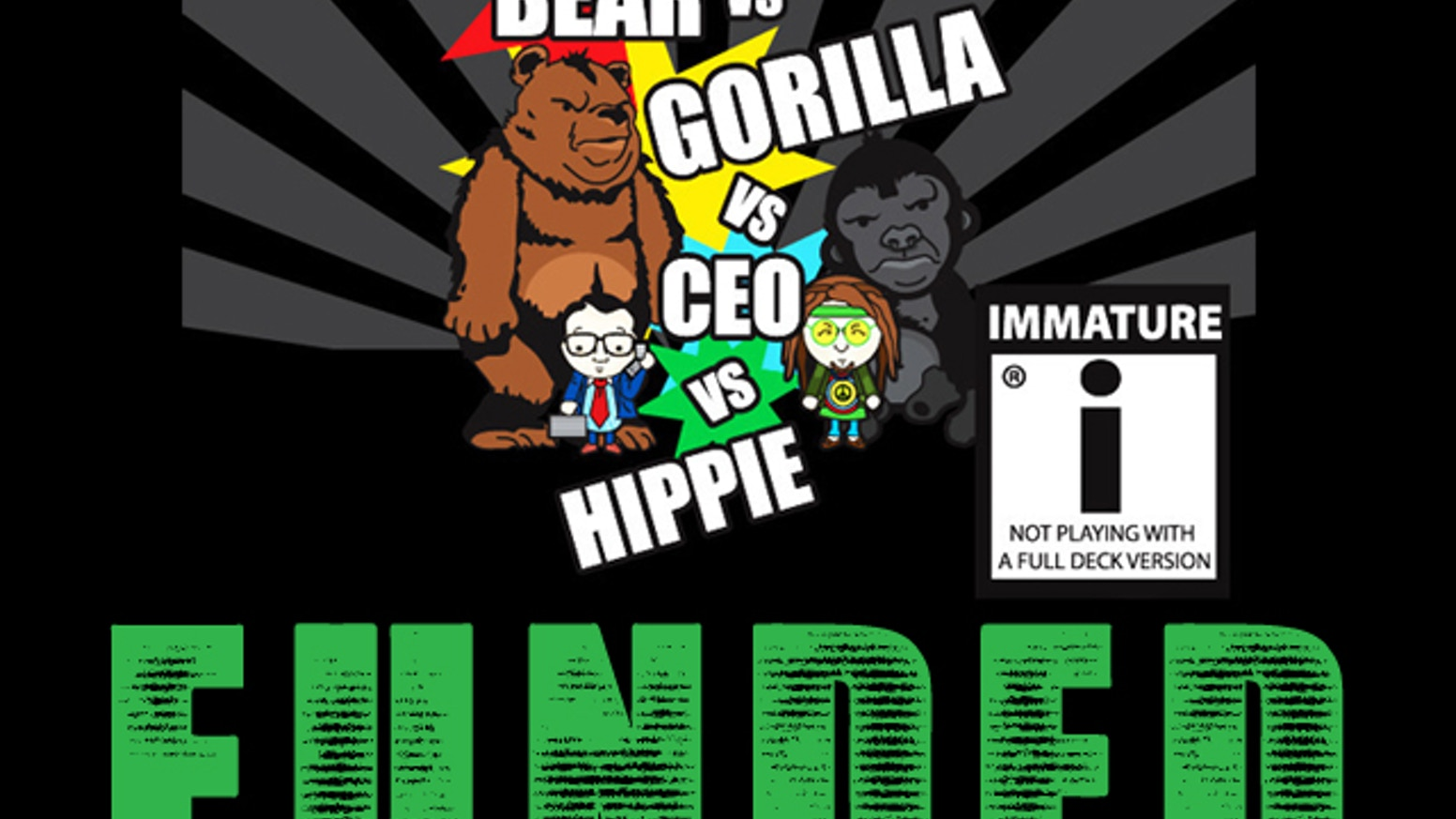 Bear Vs Gorilla Ceo Hippie New Half Deck