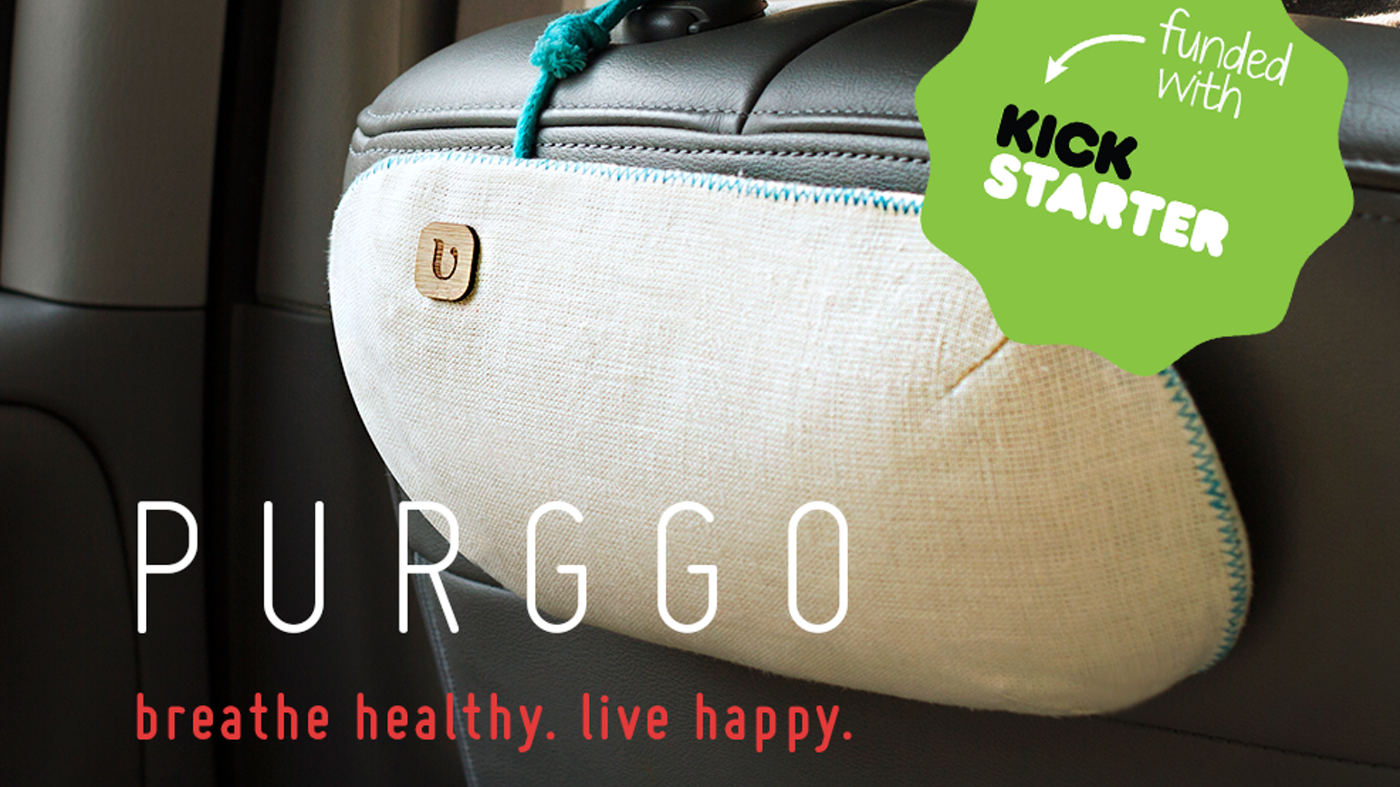 PURGGO Car Air Freshener - Absorbs Odor. Fragrance & Scent Free. Lasts 365+ Days - Made with 100% Bamboo Charcoal