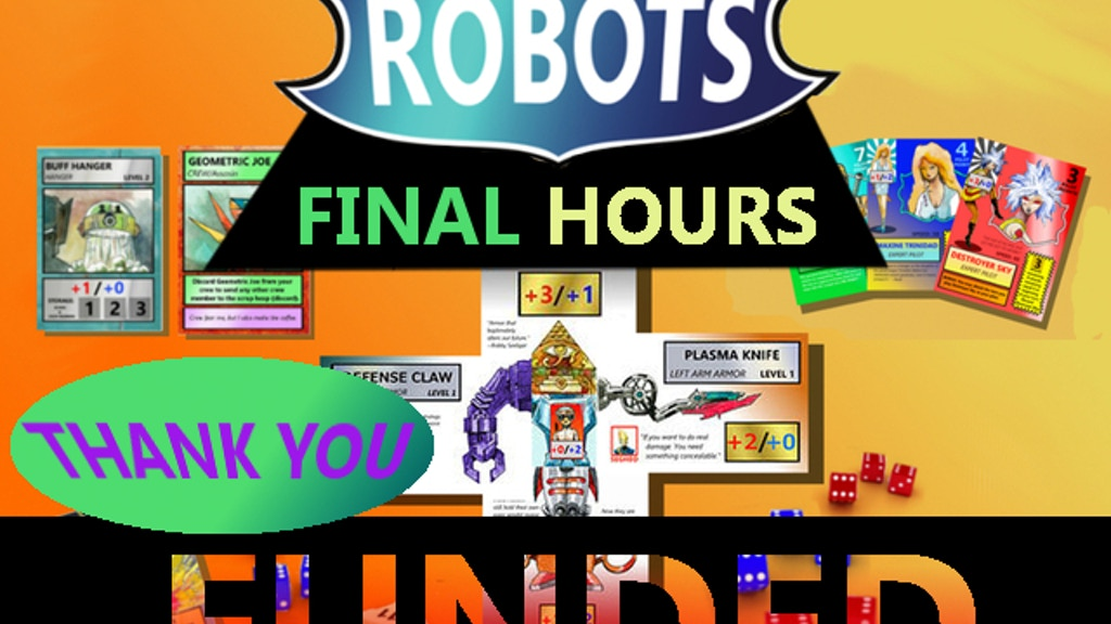 PBL ROBOTS dice & card game project video thumbnail