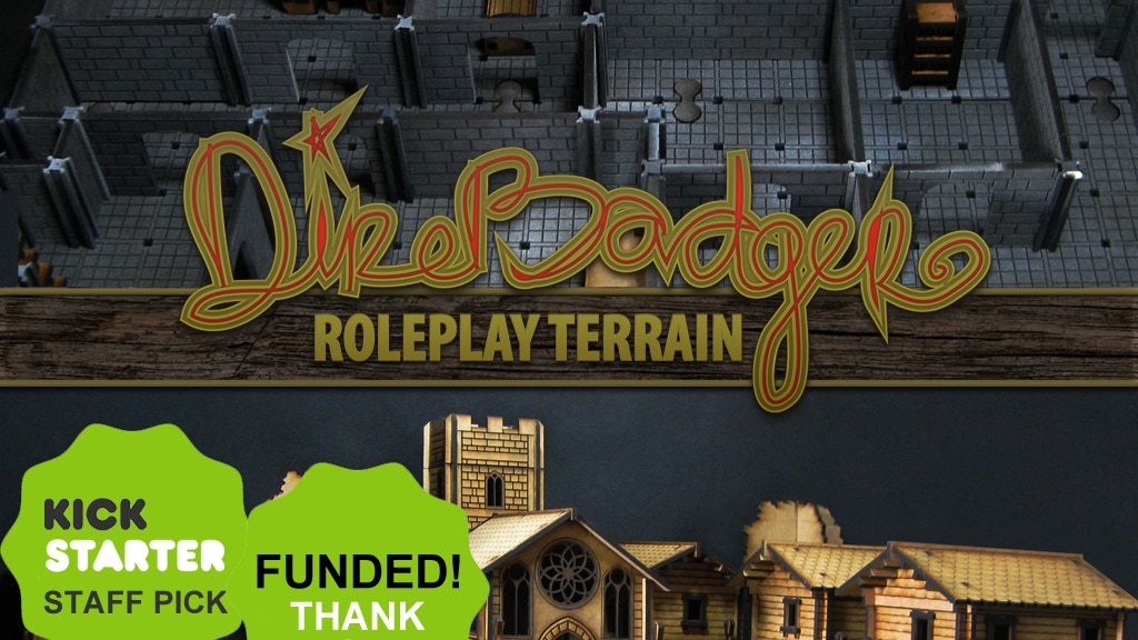 Direbadger - Lasercut Roleplay Town & Dungeon Terrain project video thumbnail