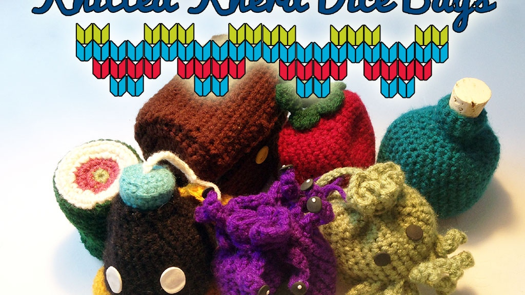Knitted Knerd Dice Bags project video thumbnail