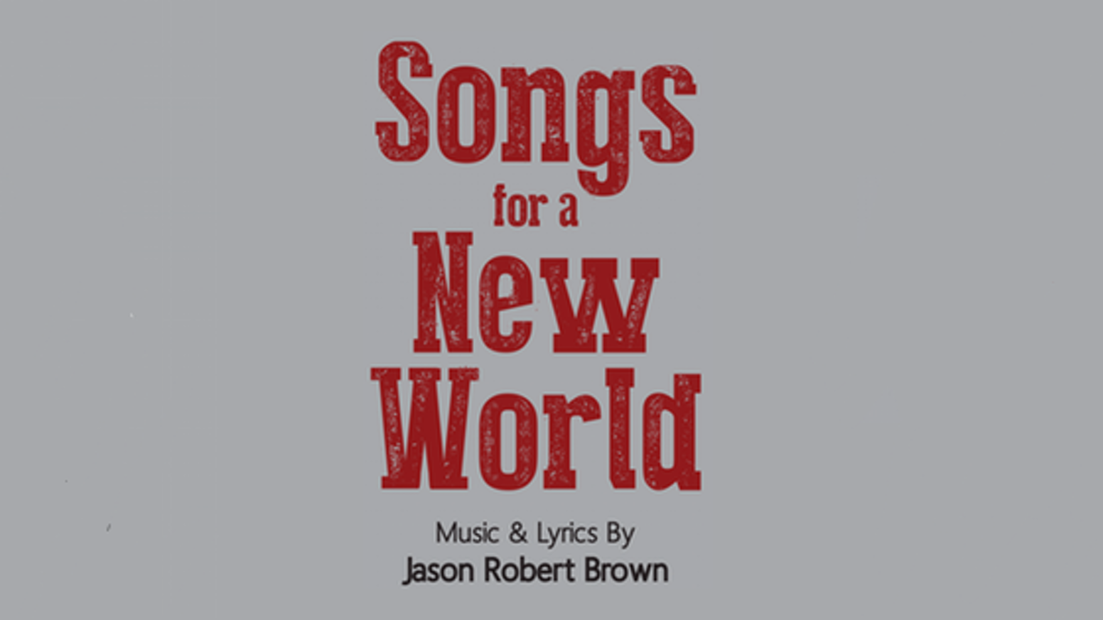 Songs for a New World by Musical Theatre Productions
