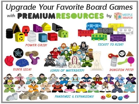 resource character meeple upgrade kits for popular games by meeple source kickstarter. Black Bedroom Furniture Sets. Home Design Ideas
