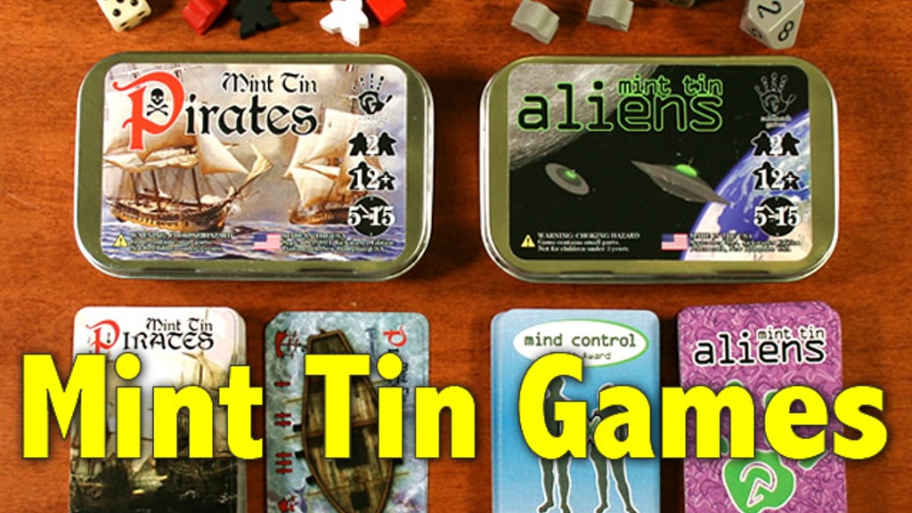 Mint Tin Games - Pirates & Aliens project video thumbnail