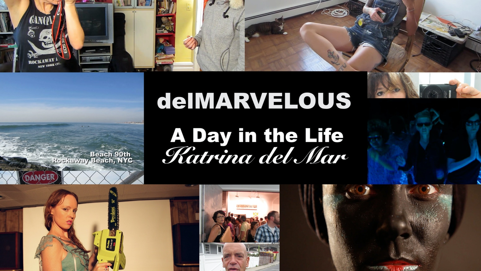 """""""Like visual poems from a speedy person"""" delMarvelous is an experimental documentary webseries by NYC photographer Katrina del Mar."""