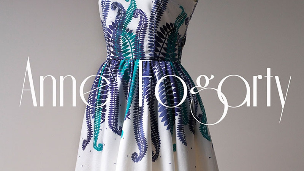 Anne Fogarty: Buy a Dress Bring Back a Fashion Icon project video thumbnail