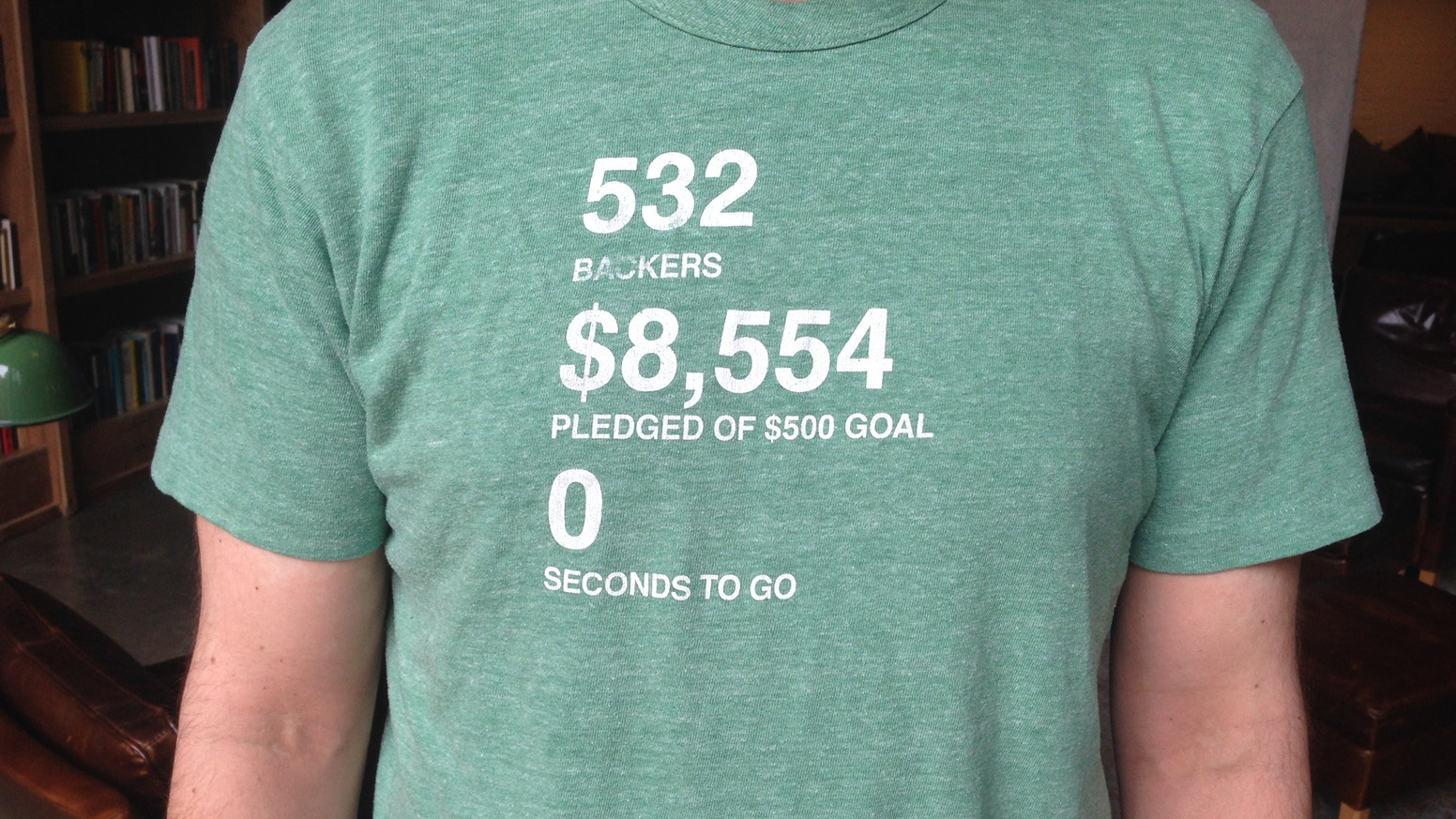 A T-shirt with the final stats of the project on it. Simple as that!