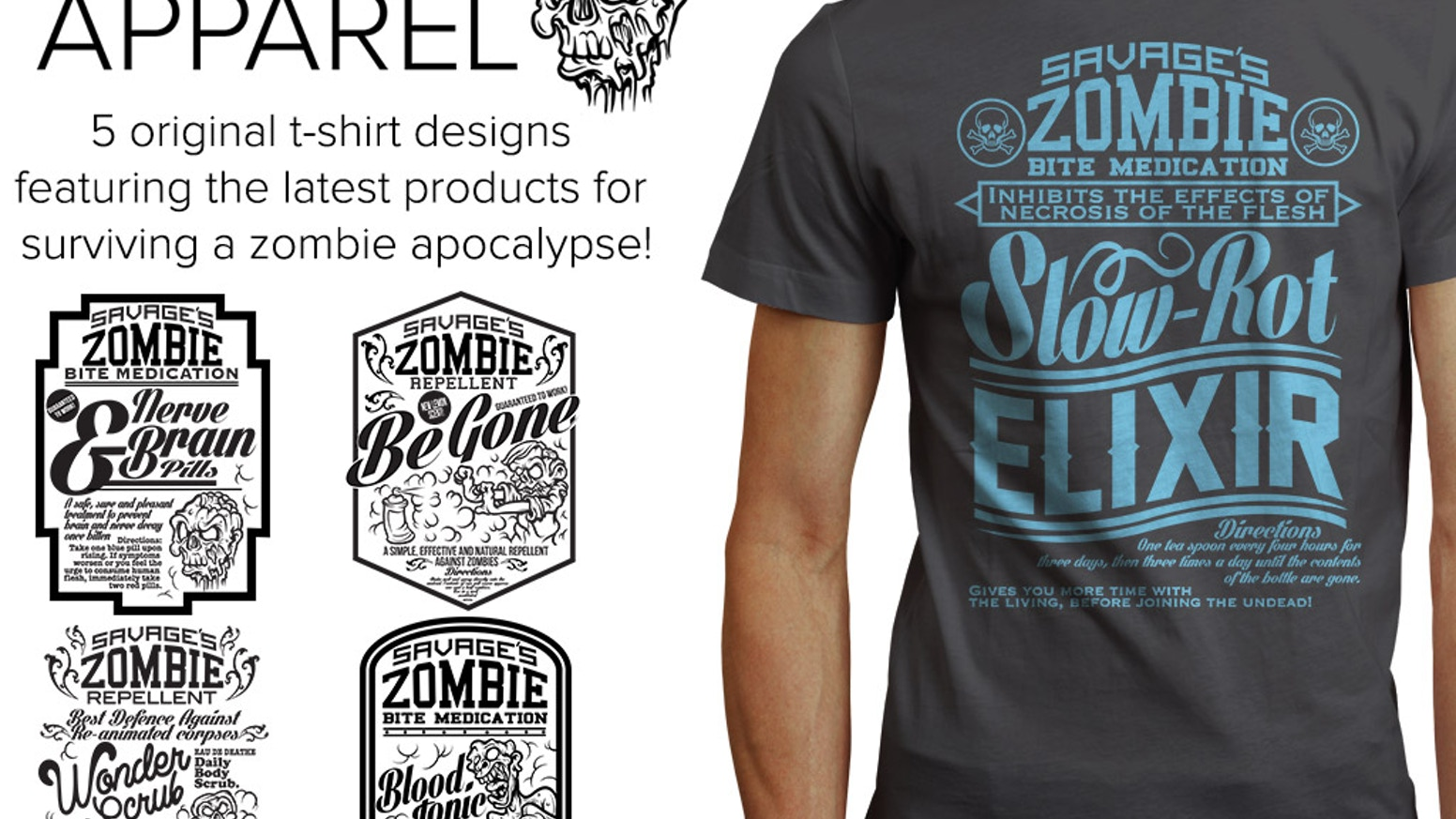 Vintage Style Zombie T Shirts By Undead Apparel By Redlab Projects