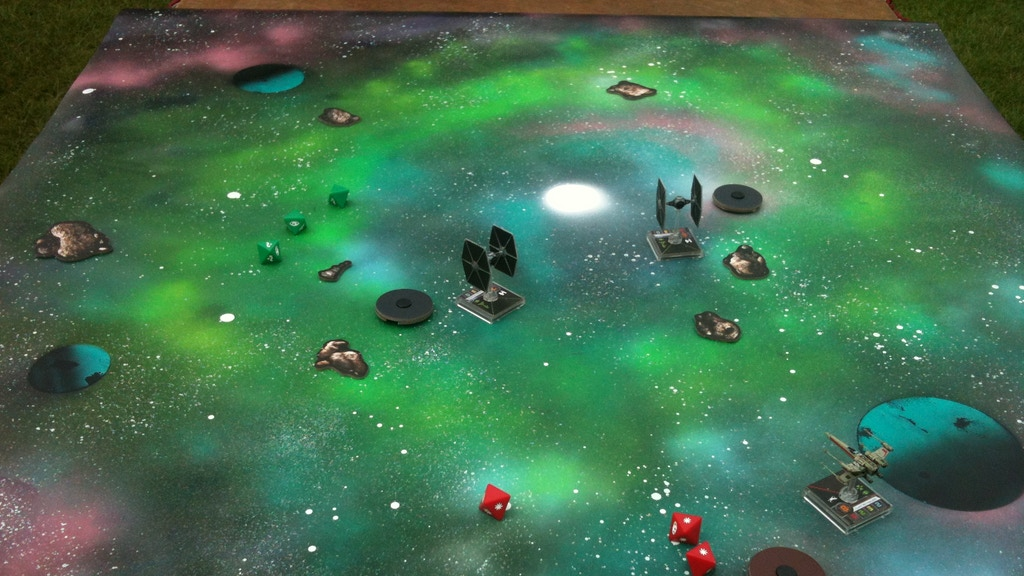 Bespoke Spray-Painted Space Game Mats /Printed Premium Mats. project video thumbnail
