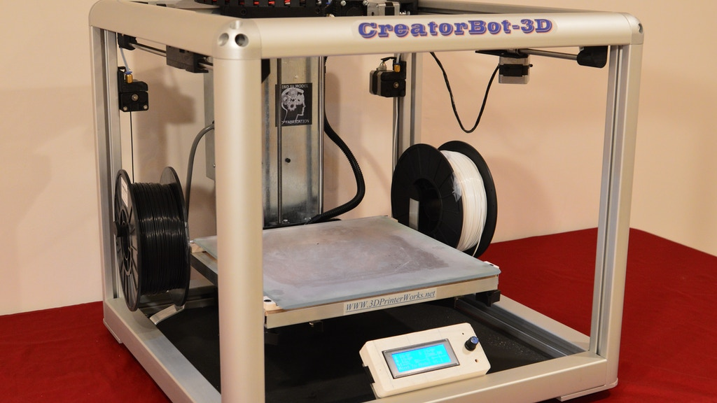 "CreatorBot-3D  2 color printer. With 12"" & 18"" Print heights project video thumbnail"