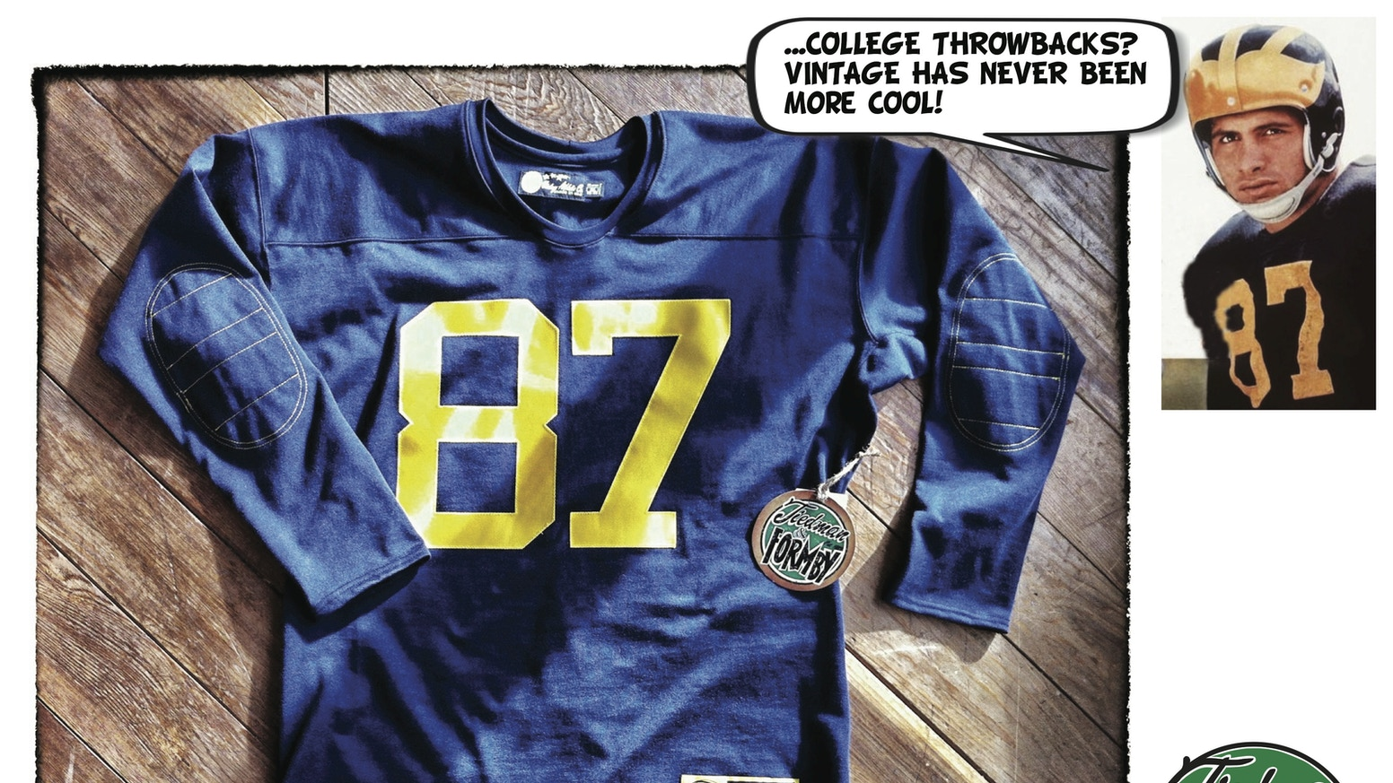 promo code 9408f fe5d4 College Throwback Jerseys by T&F Vintage Athletic Company ...
