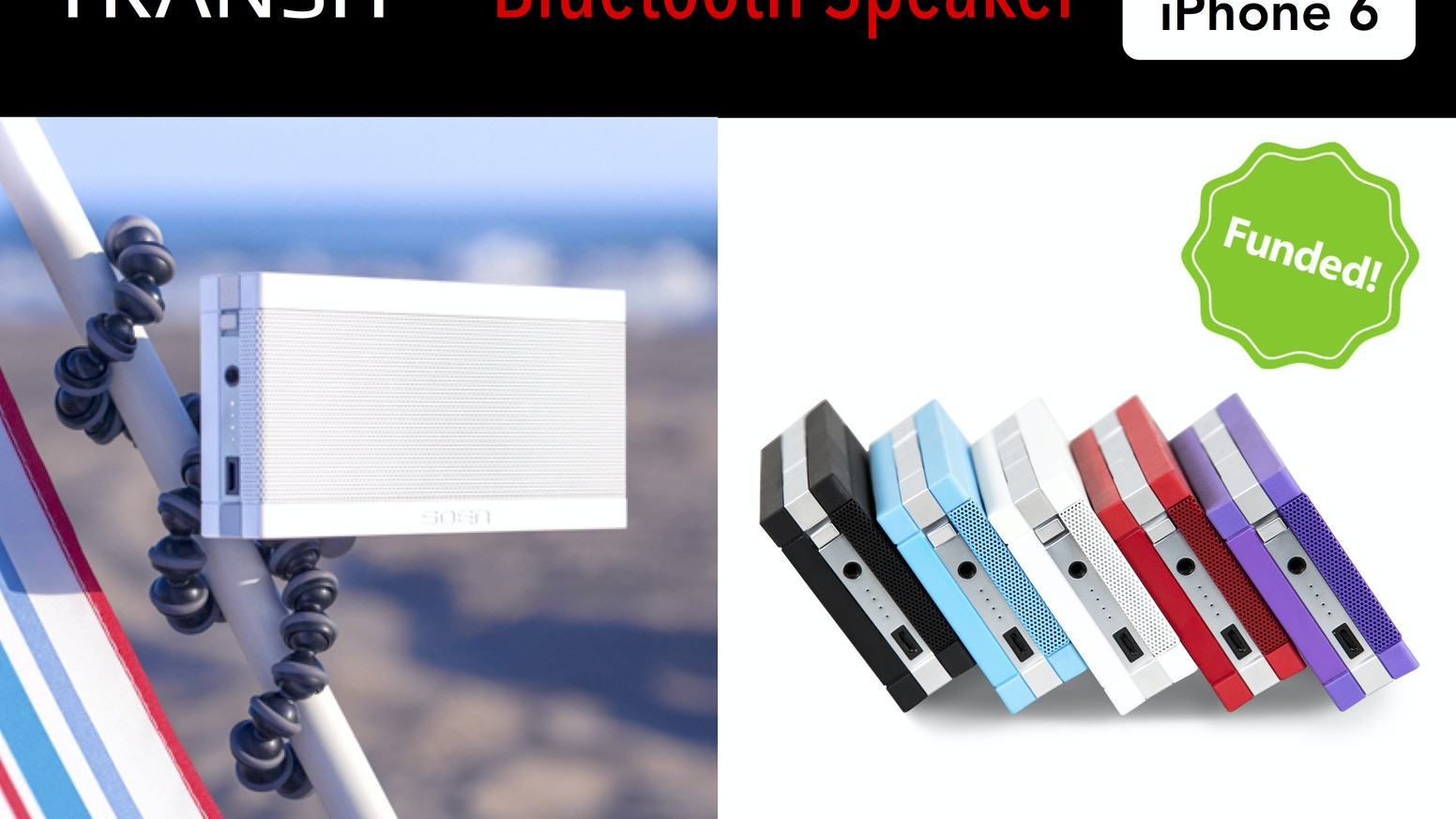 Portable, Mounting Bluetooth Speaker  Works with iPhone 6 by