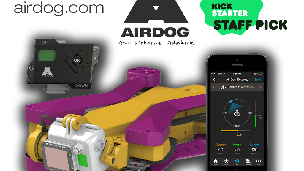 AirDog: World's First Auto-follow Drone for GoPro Camera Project-Video-Thumbnail