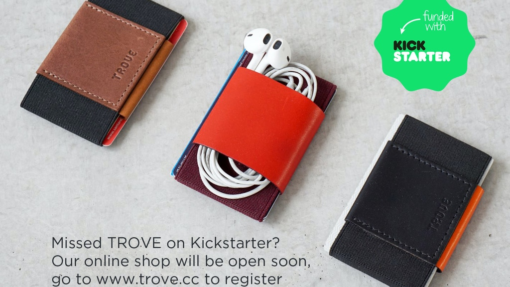 TROVE: The Ultimate Slim Wallet & Card Case project video thumbnail