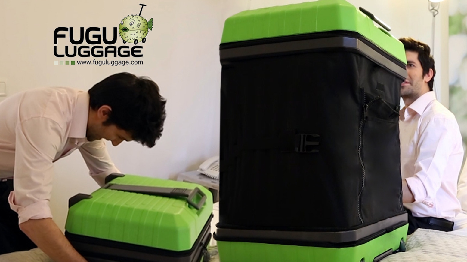 Introducing the revolutionary suitcase that can transform from a carry-on to a full-size check-in, act as a closet, a table and more!