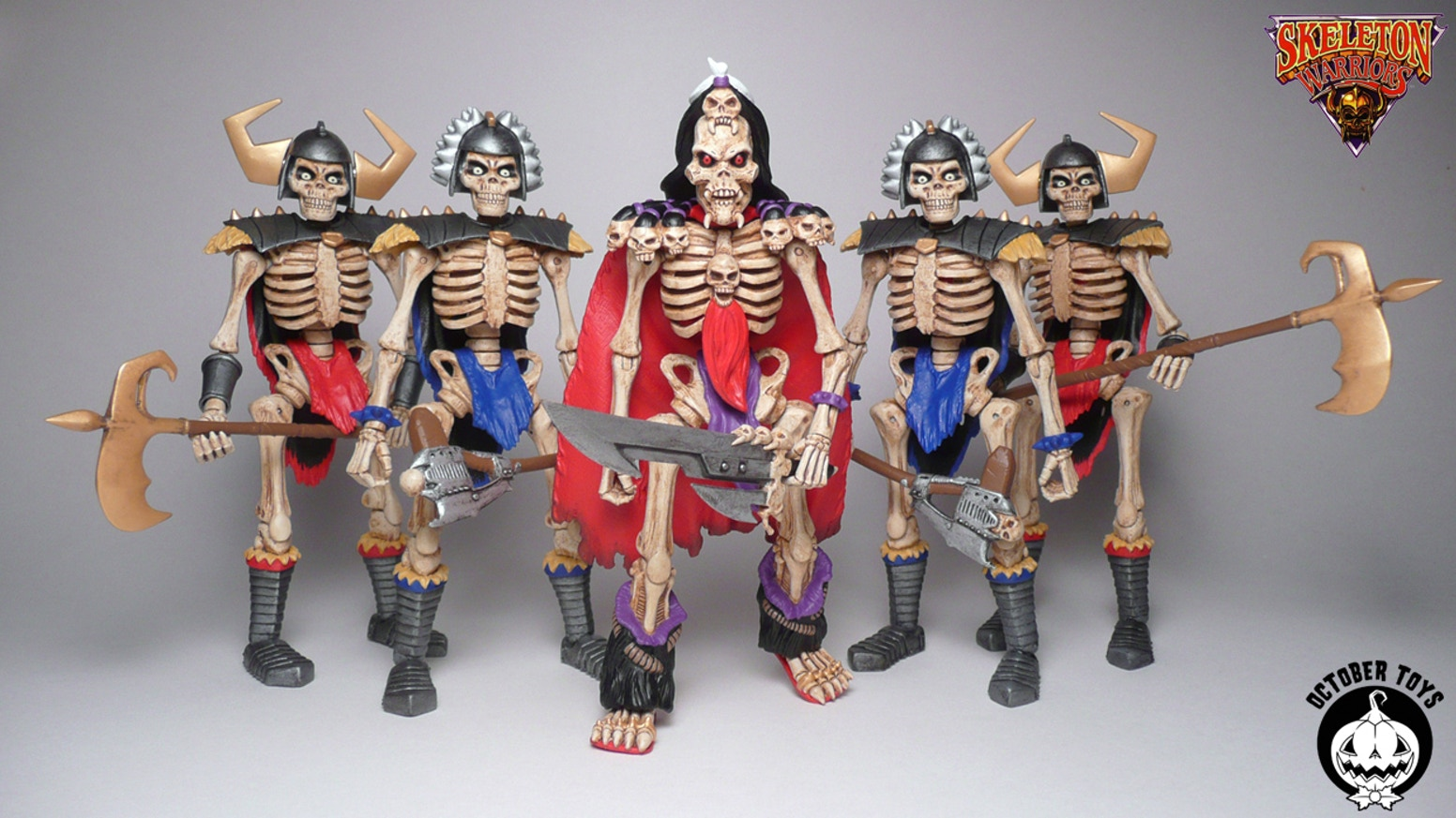 "Skeleton Warriors 5"" fully articulated (26 points), customizable, Glyos compatible Baron Dark and Skeleton action figures!"