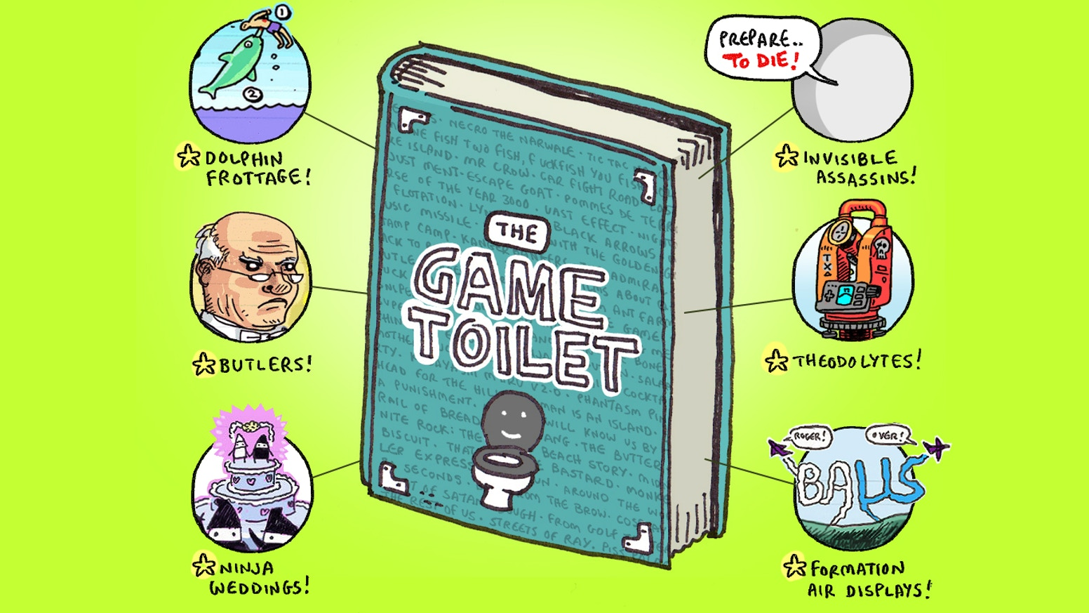 100 of the best game design ideas from the gametoilet blog printed on fancy 3 ply paper perforated for easy insertion
