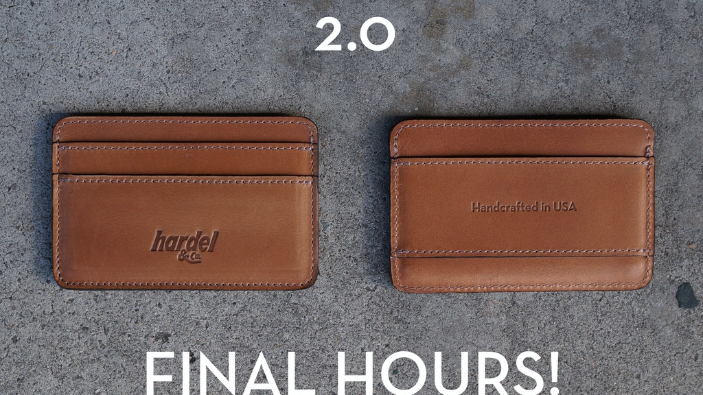 THE 2.0 - CASH AND CARD SLIM WALLET project video thumbnail