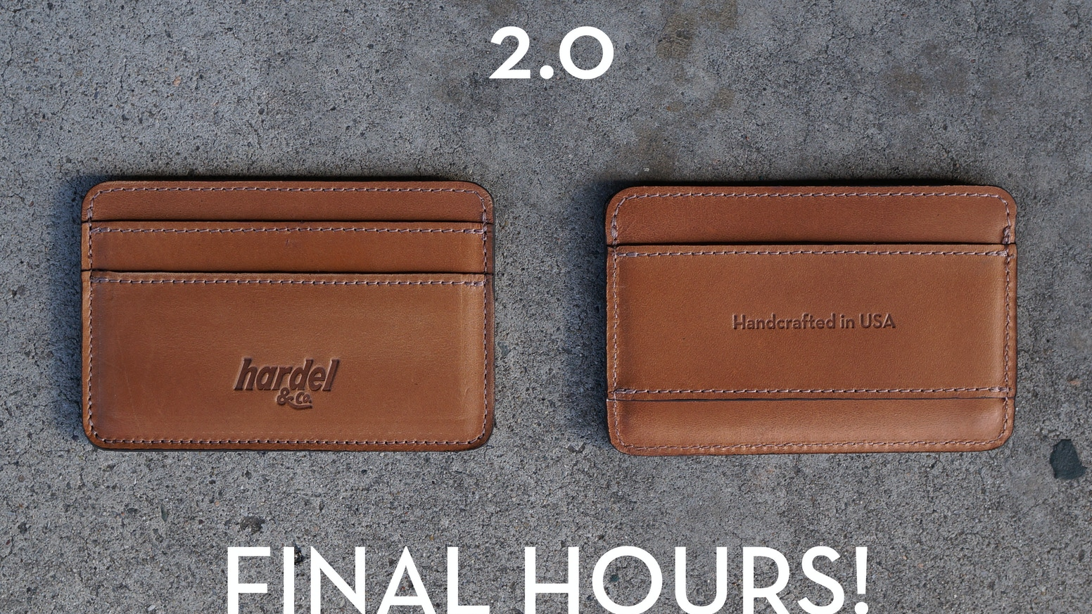OUR BEST WALLET YET... Presenting the meticulously PERFECTED, HANDCRAFTED 2.0 by Hardel & CO. Made in USA