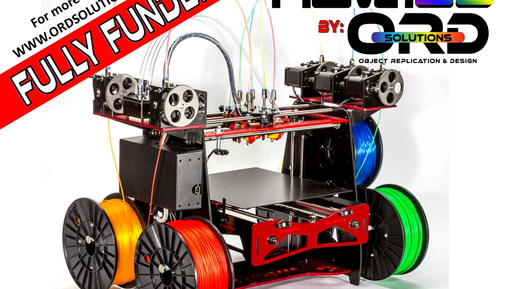RoVa3D : The First 5 Material/Color Liquid Cooled 3D Printer project video thumbnail