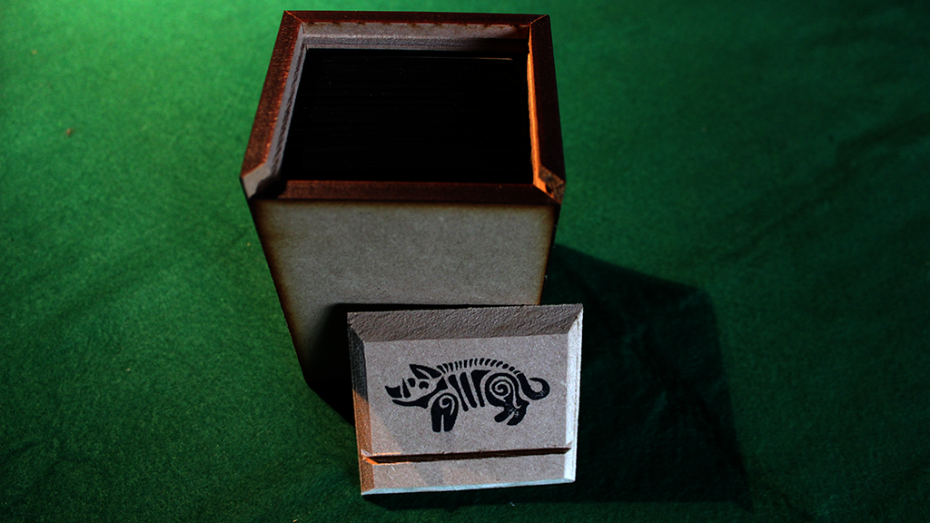 wooden deck boxes for trading card games by warscale. Black Bedroom Furniture Sets. Home Design Ideas