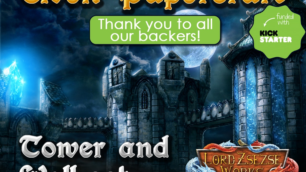 28mm Elven Papercraft Tower & Wall terrain set for RPGs project video thumbnail