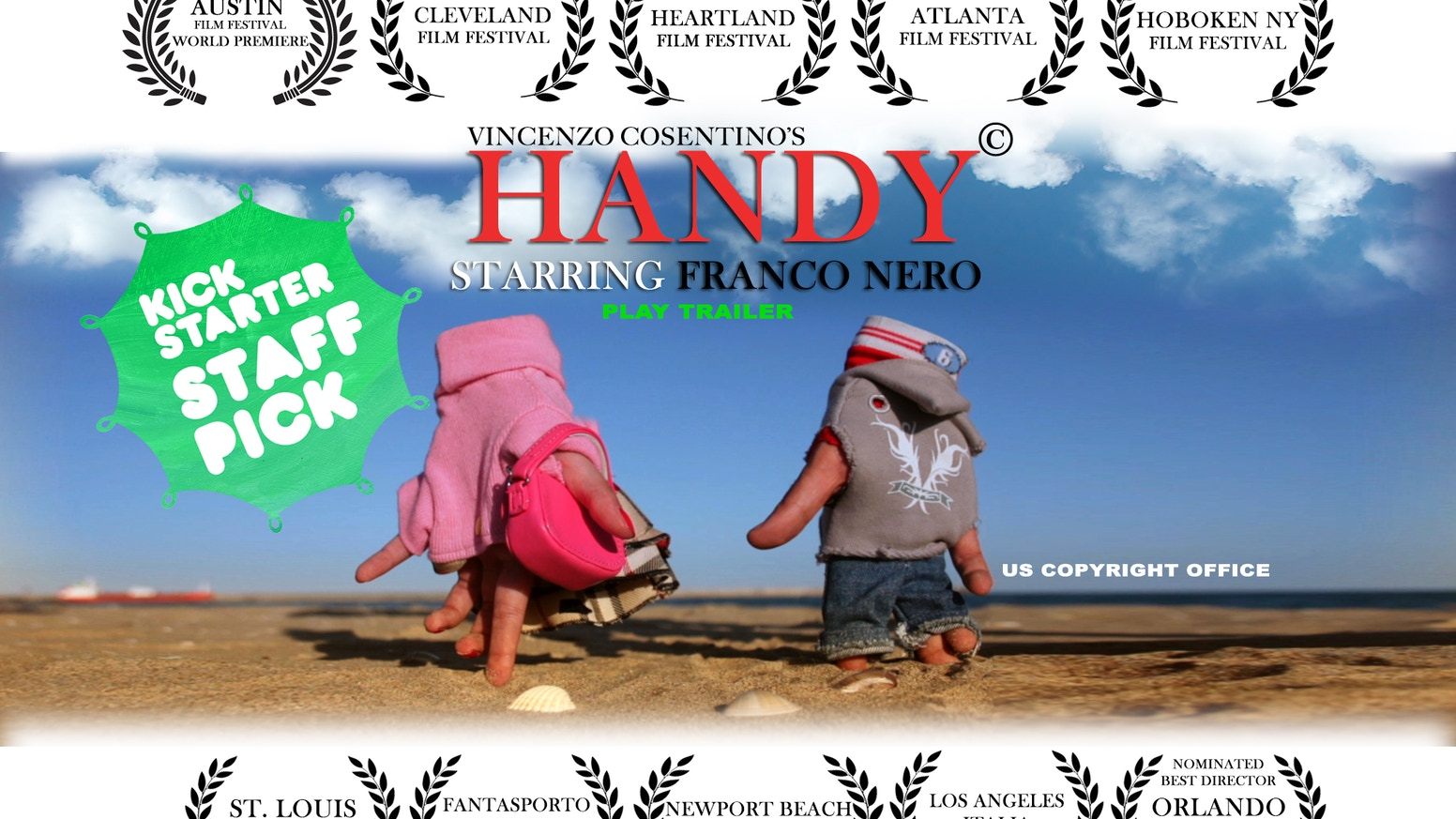 Handy Starring Franco Nero By Vincenzo Cosentino Short Circuit Movie Posters From Poster Shop Be Part Of The Handependence Day A Unique Film That Needs Your Hand To Reach