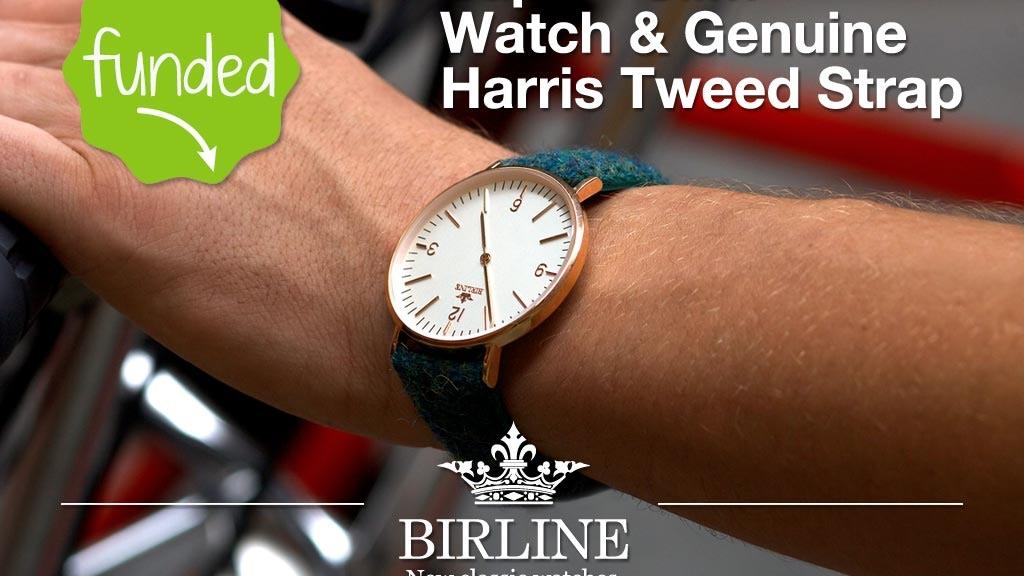Birline - Super-Slim watches & Unique Harris Tweed Straps project video thumbnail