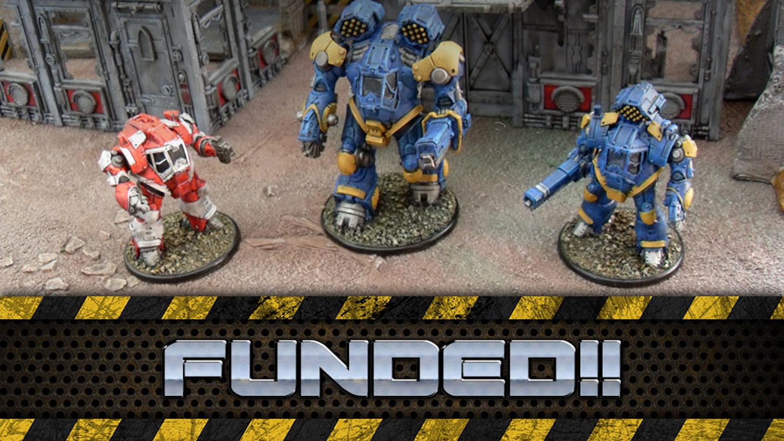 A 28mm Heroic Scale Tabletop Skirmish Game of Giant Robot Metal-on-Metal Carnage!