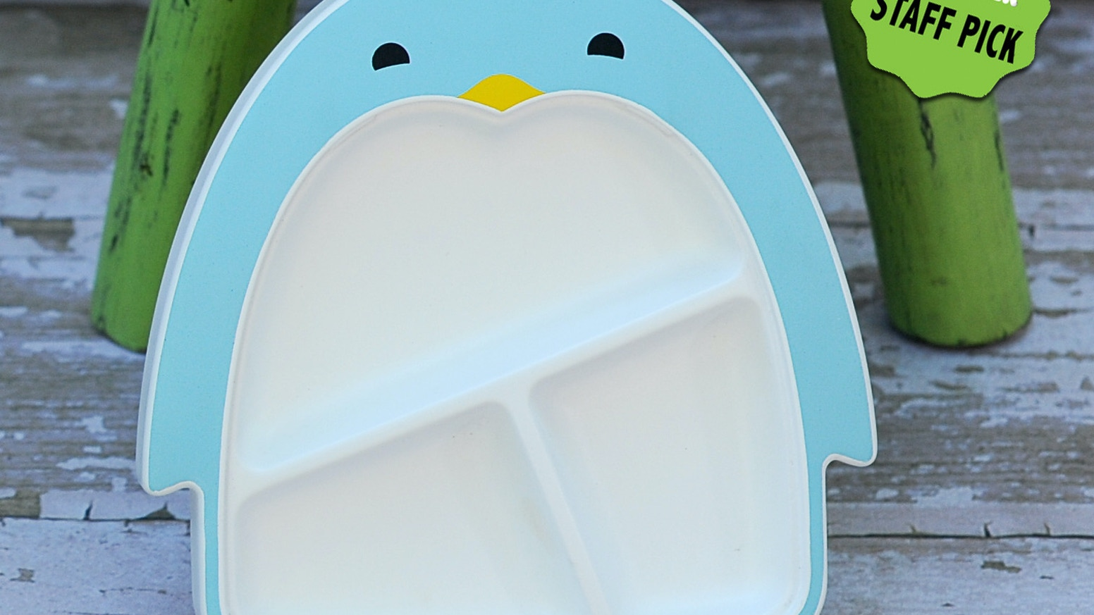 Finally, a kid's plate that really stays put so you can enjoy mealtime.