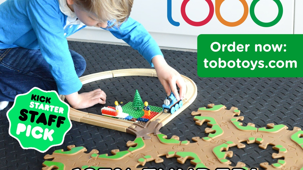 Tobo Track - Liquid wood eco-toy tracks for Thomas™ & Lego®! project video thumbnail