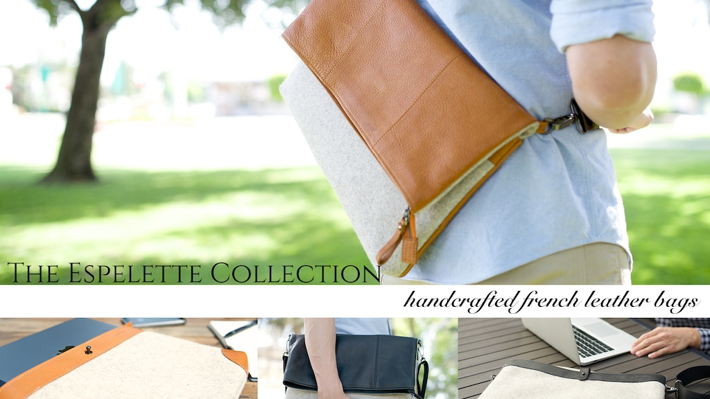 Espelette Collection Handcrafted Leather Messenger Bags project video thumbnail