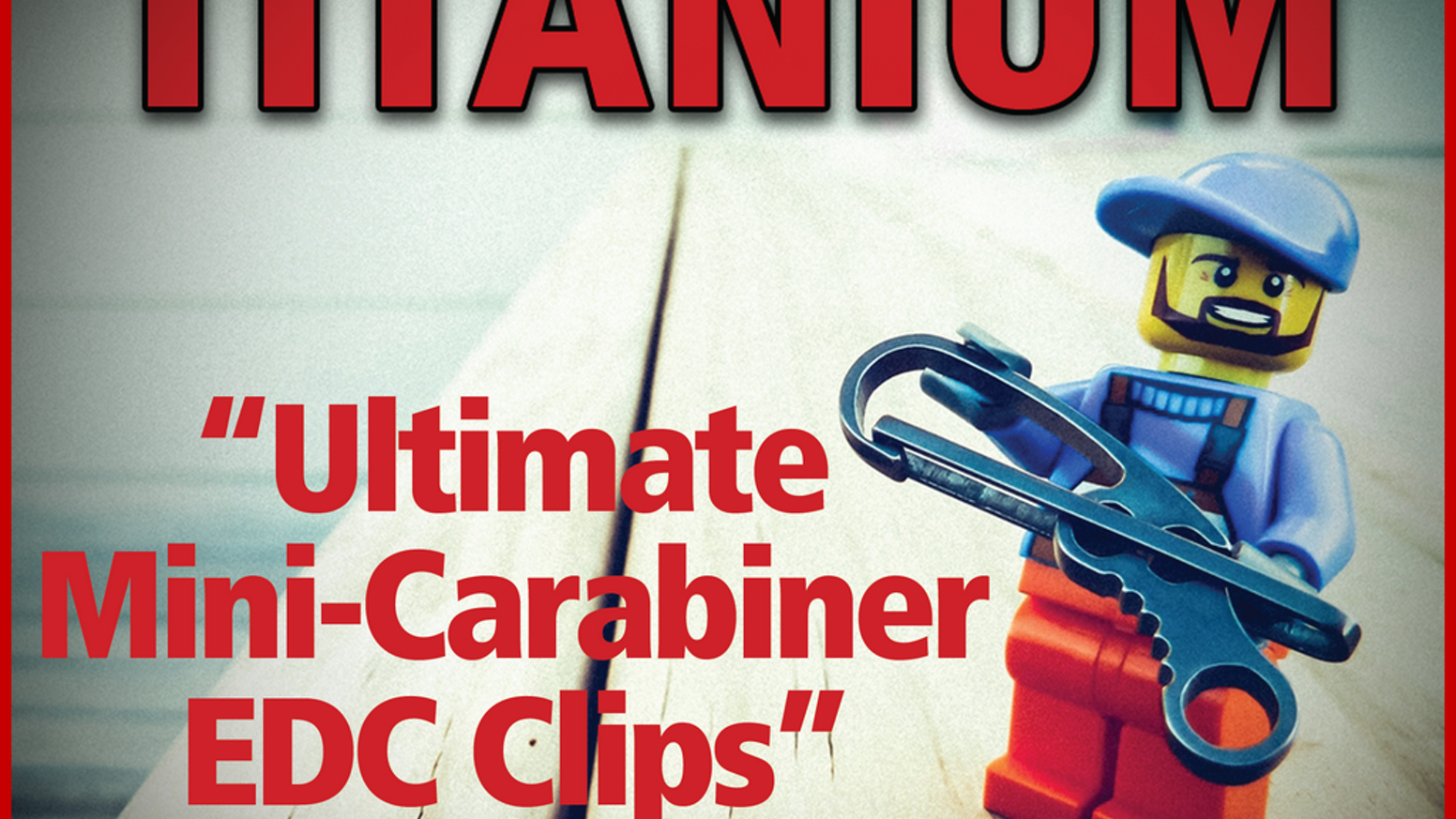 """""""REVEALED: World's First Fully-Titanium, Quick-Release Mini-Clips For Your Key-Chain ...The Complete Every-Day-Carry (EDC) System!"""""""