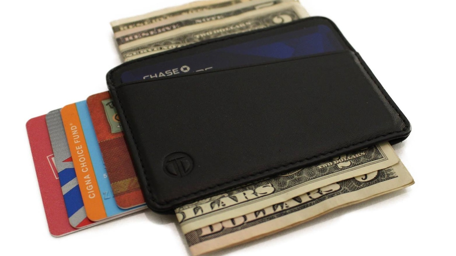 Super slim leather wallet that adapts to your needs, cash, cards and more. A thin minimalist designed wallet that is stylish and functional.