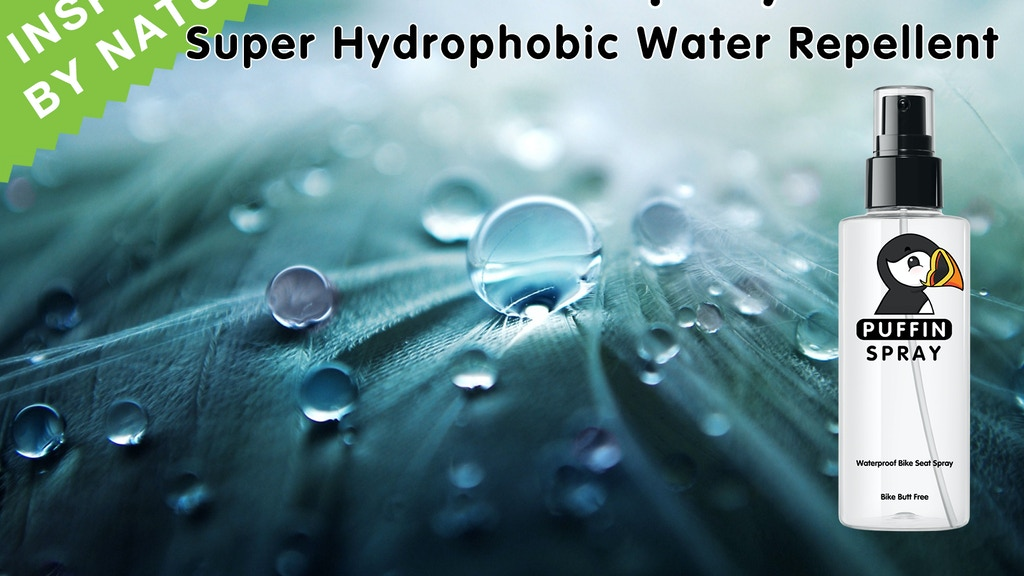 Puffin Spray - Super Hydrophobic, Water Repellent Spray project video thumbnail