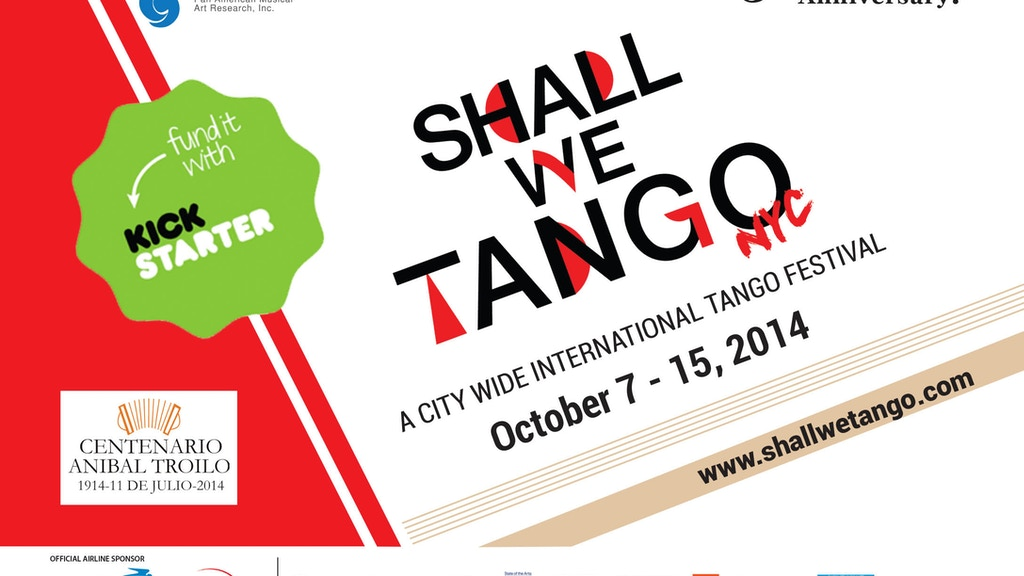Shall We Tango NYC Citywide Tango Festival Oct 7-15, 2014 project video thumbnail