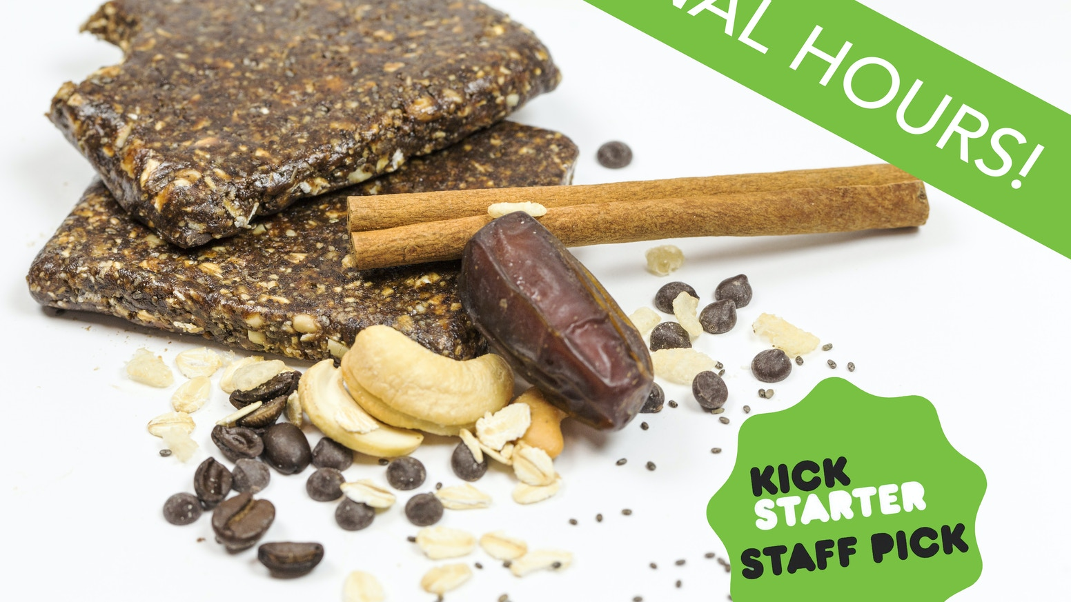 The Eat Your Coffee Bar is an all natural energy bar infused with real coffee. 100% Organic, Vegan, Gluten-Free, Fair-Trade and most importantly, delicious. Eat Your Coffee!