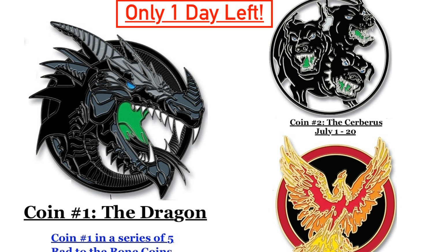 Dragon Head Challenge Coin Series - 1st Coin In the Series