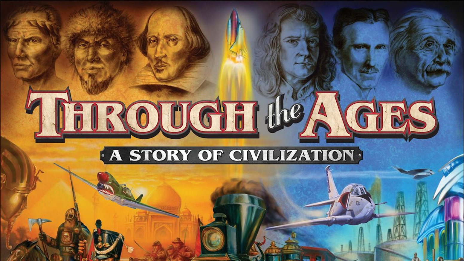 Guide your civilization from Antiquity to the Modern Age as you play Through the Ages. The best Civilization board game of all time!